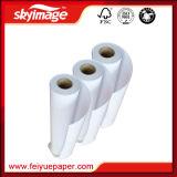 Alta carga 105GSM 2, 500 milímetros * 98 pulgadas de la tinta - alto papel de transferencia viscoso de la sublimación del rodillo para la impresión amplia de la inyección de tinta del formato