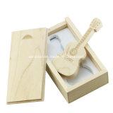 Bastone di legno del USB della chitarra del USB del disco di bambù di memoria