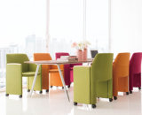 Moderner Möbel-Aufenthaltsraum-Latten-Grauer Gewebe-Freizeit-Stuhl mit Handläufen (HX-5CH080)