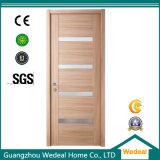 Porte intérieure de faisceau solide en bois affleurant du placage MDF/HDF