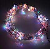 크리스마스 훈장 USB LED 은빛 구리 철사 끈 빛