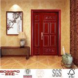 Bois en partie double d'entrée de porte d'appartement/porte en bois (GSP1-010)
