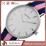Relógio simples de vidro mineral do esporte de quartzo das senhoras cor-de-rosa