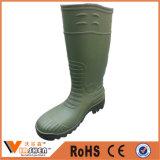 Безопасность Gumboots Wellington пальца ноги PVC стальная для конструкции