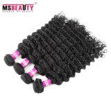 Cabelo Curly profundo do Weave brasileiro barato do cabelo humano do Virgin