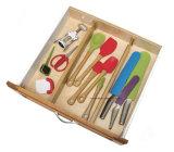 Los divisores de bambú del cajón de la cocina ajustaron a partir 22 a 17 pulgadas