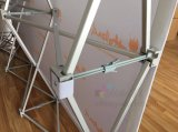 die 8X10FT Ausstellung, welche die beweglichen einfachen Fahnen des Standes bekanntmacht, knallen oben Standplatz