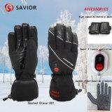 Sauveur hiver imperméable à l'eau gant de ski pour Sking, sport de plein air, gants de chauffage électrique gant de neige, 3 niveaux de contrôle intelligent