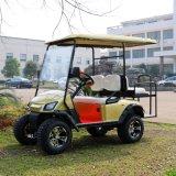4 Seater電気ハンチングゴルフカート(後部フリップシートが付いている電気手段)