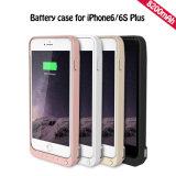 Caso alternativo portátil da potência do carregador da caixa de bateria para o iPhone 6 6s mais