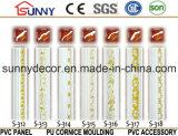 Cornisa de los moldeados del poliuretano de la PU del oro para la decoración de Home&Interior