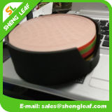 Práctico de costa de goma de la taza de Shengleaf con el conjunto y la insignia de encargo en buena calidad