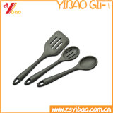 La chaleur de logo de Customed résistent de la pelle à vaisselle de cuisine de silicones