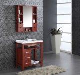Mobilia di legno della stanza da bagno con il dispersore di ceramica