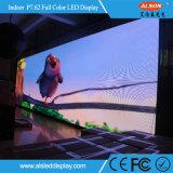 Muestra fija de interior a todo color de SMD P7.62 LED para el anuncio