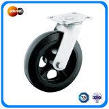 """8 X 2 """"Heavy Duty placa de giro de goma de fundición de hierro ruedas"""
