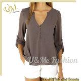 Oberseite-späteste Entwurfs-Bluse für Frauen-Hemd