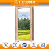 Puerta de aluminio interior abierta del vidrio del doble del aislante de calor de 75 series