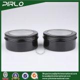 150g 5oz schwarzer Farben-Fenster-Schutzkappen-Aluminiumzinn-flacher Form-Haut-Sorgfalt-Sahne-Behälter-leeres Aluminiumsahneglas mit Kappe