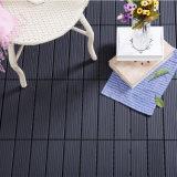Azulejo de suelo de aluminio oscuro al aire libre de la cubierta del metal de Brown