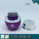 Emballage cosmétique 30g 1 Oz Colored Rip Cosmetic Glass