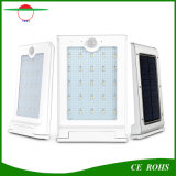 Da luz magro brilhante super ao ar livre quente do jardim IP65 do uso eficaz da energia iluminação solar fixada na parede de alumínio de 20 diodos emissores de luz