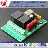 Receptor de RF sem fio de 220V AC de 2 canais