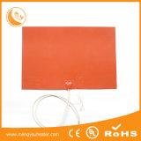 Impressão quente global Jiangyin flexível do calefator 300X300 Heatbed da borracha de silicone da venda