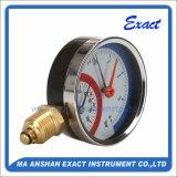 Termometro-Termo manometro d'acciaio nero - calibro di temperatura di pressione