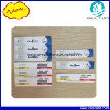 Tarjeta de papel multiclavijas pagada por adelantado Cr80 del rasguño de la recarga