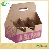 Six cadres de papier de empaquetage de bouteille de paquet (CKT-PB-112)