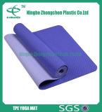 Esteira da ioga do exercício do TPE com a esteira amigável da ioga do TPE de Eco da cor contínua
