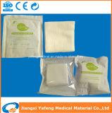 Elementaroperation-steriler Baumwollgaze-Putzlappen mit gefalteten Rändern