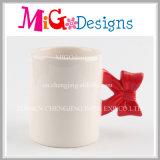 Tazas de cerámica material ecológico con mano de impresión