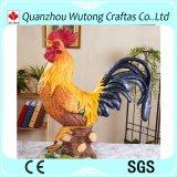 Figurine fortunato del gallo della resina della decorazione esterna del giardino