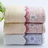 Nice en de Zachte Handdoek van het Gezicht 100%Cotton met het Ontwerp van de Jacquard