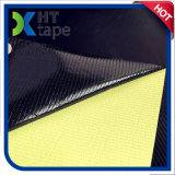 Cinta negra adhesiva del Teflon del alto silicón resistente con el trazador de líneas amarillo