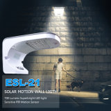 Sensor de movimiento LED de luz solar de la pared del jardín de la casa de luz con batería de copia de seguridad