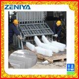 Máquina de gelo industrial do bloco refrigerar de água da transformação de produtos alimentares grande