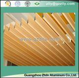 Madera de grano de goteo de agua de techo de aluminio para la decoración al aire libre