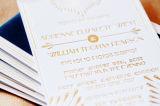 Papier d'aluminium d'or d'estampage de clinquant de clinquant chaud brillant de transfert thermique sur la carte de voeux de papier de carte de cadeau de lettre