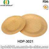 生物分解性の環境に優しく使い捨て可能なタケ円形の版(HDP-3021)