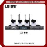 Ls804デュアルチャネルの無線マイクロフォンシステムUHF無線電信のマイクロフォン