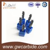 Fraises en bout 2/3/4 de cannelures solides de carbure HRC45 50 60