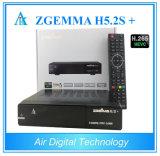 2017 récepteur satellite des nouveaux produits DVB-S2X Zgemma H5.2s+ DVB-S2+ DVB-S2X/T2/C Hevc H. 265 chauds Zgemma H5.2s plus