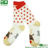 Развеселите вверх носки экипажа рождества хлопка изготовленный на заказ