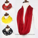 Écharpe en soie pure de Tublar de couleur ordinaire (HWBS47)