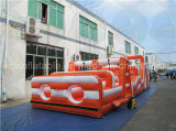 Curso de obstáculo inflável mega adulto, obstáculo gigante com boa qualidade
