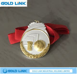 習慣はメダル金属のクラフトのバスケットボールの円形浮彫り賞を遊ばす
