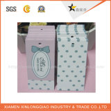 Étiquette de coup de chaussure de papier d'imprimerie avec la corde